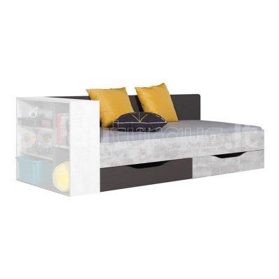 TABLO TA12 GRAFIT ENIGMA viengulė lova 01 KAIRE PUSE