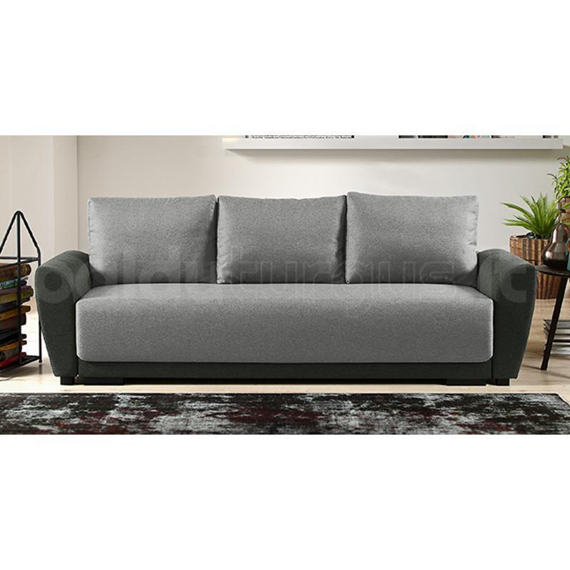 Malmo Three Seater Sofa Grey Dwell